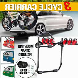 3-Bicycle Rack Bike Hitch Mount Foldable Rear Carrier Swing