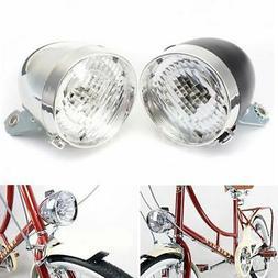3 LED Vintage Bicycle Bike Lamp Headlight Accessory Retro Fr