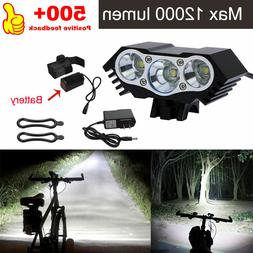 3 x CREE XM-L T6 LED Bicycle bike HeadLight Head Light Lamp