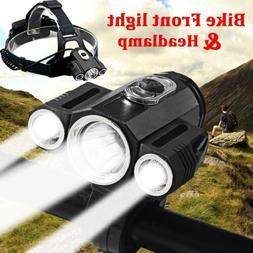 35000Lumens 3xT6 Bike Bicycle Front LED Headlamp Light  Supe
