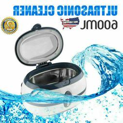 600ml Digital Ultrasonic Cleaner Jewelry Stainless Watch Cle