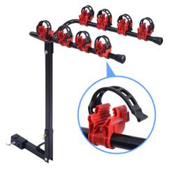 "4 Bicycle Bike Rack 1-1/4""&2"" Hitch Mount Carrier Car Truck"