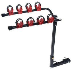"""4 Bike Bicycle Rack Carrier Hitch Mount 1-1/4""""&2"""" Car Truck"""