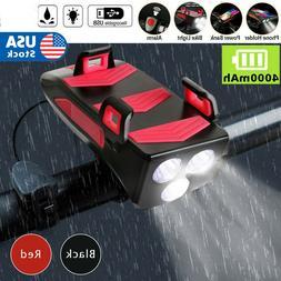 4 in1 Bicycle Bike Phone Bracket USB Charging Rack Holder He