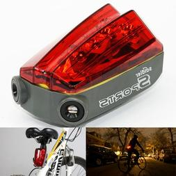 4 Modes 5 LED Waterproof Bike Safety Laser Tail Light with P