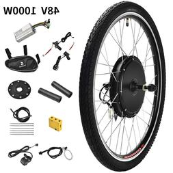 48V 1000W 26'' Front Wheel Electric Bicycle E-bike Kit Conve