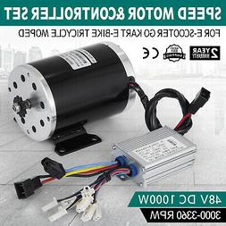 48V DC Electric speed Motor 1000W w/ Controller DT8F-11T Min
