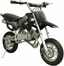49CC Black 2-Stroke Gas Power Mini Pocket Dirt Bike Dirt Off