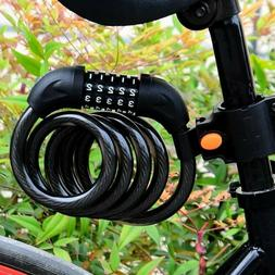 4ft Heavy Duty Security 5 Digit Combination Bike Cable Lock