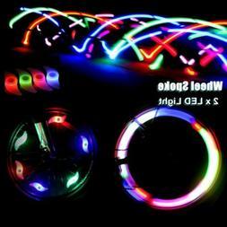 4pcs Bike Bicycle Cycling Wheel Spoke Wire Tyre Bright LED F