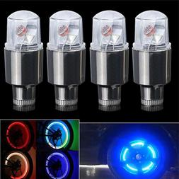 4pcs LED Tire Valve Stem Caps Neon Light Auto Accessories Bi