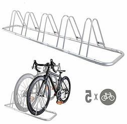 5 Bike Bicycle Floor Parking Rack Storage Stand by CyclingDe