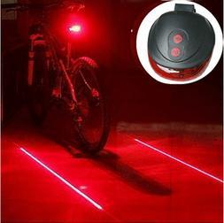 5 LED + 2 Laser Bike Bicycle Light Rear Tail Flashing Safety