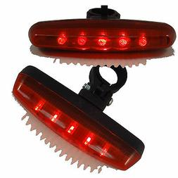 5 LED Red Tail Light 7 Mode Safety Flashing Rear Lamp for Bi