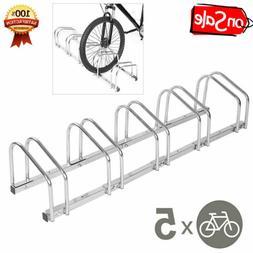 1/4/5 Racks Steel Bike Bicycle Floor Parking Stand Storage R