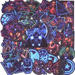 50 PCS Neon Super hero Avengers <font><b>Stickers</b></font>