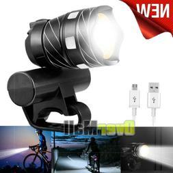 500000LM T6 USB Rechargeable Cycling Light HeadLight Bike Bi