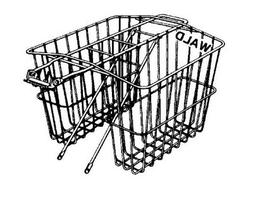 Wald 570 Rear Twin Bicycle Carrier Basket
