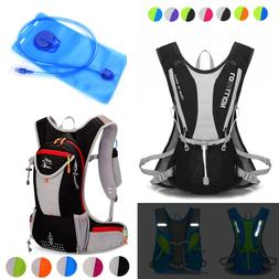 5L 12L Bike Bicycle Hydration Pack Backpack Cycle Hiking + 2