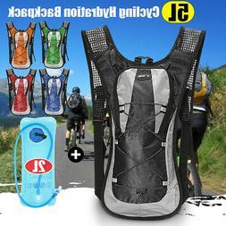 5L Bike Bicycle Hydration Pack Backpack + 2L Water Bladder B