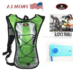 5L Bike Bicycle Hydration Pack Backpack + 2L Water Bag Camel