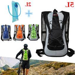 5L Bike Bicycle Hydration Pack Backpack Bag + 2L Water Bag C