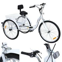 Ridgeyard 26inch 3-Wheel Adult Tricycle Bicycle Trike Cruise