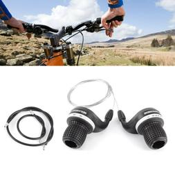 6 Speed Gripshift Shifters Mountain Bike Twist Grips Gears +