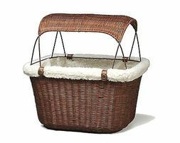 Solvit PetSafe Tagalong Wicker Bicycle Basket, Dog Carrier f