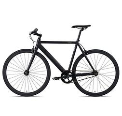 6KU Track Fixed Gear Bicycle, Black/Black, 61cm