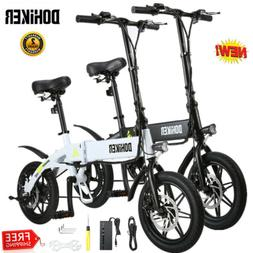 14'' Folding Electric Bike Collapsible Moped Bicycle With LE