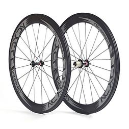 700c 60mm Clincher Carbon Wheels 1595g LightWeight Bicycle