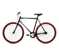 Kent 700C Men's Thruster Fixie Bike Black/Red