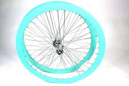 700C Wheelset Rims 43mm Seafoam-Green Teal Celeste Fixie Fli