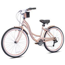 Kent 72653 26 inch Bayside Women's Cruiser Bike Rose Gold Pi