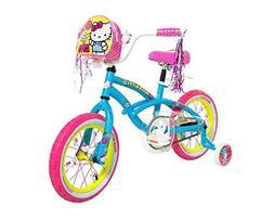 Dynacraft 8048-16ZTJ Girls Hello Kitty Bike, Blue/Pink/Yello