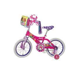 "Dynacraft Barbie Girls BMX Street Bike 16"", Pink/White/Purpl"