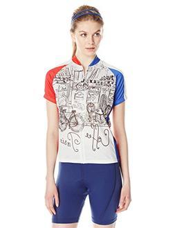 83Sportswear Paris Bistro Cycling Jersey, Beige, X-Large