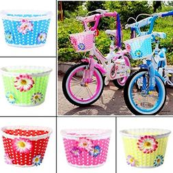 Bicycle Bike Front Basket Decoration For Children Color Pnk