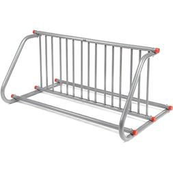 "59-3/4""L Grid Bike Rack, Double Sided, Powder Coated Galvani"