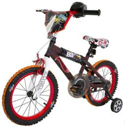 Hot Wheels Boy's 16-Inch Bike, Black/Red/Orange