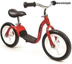 KaZAM v2e No Pedal Balance Bike, 12-Inch, Red