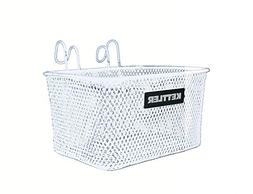 Kettler Handlebar Bike Basket Accessory, Front Mounted Handl