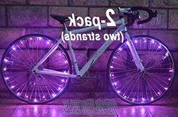"""LED """"BikeStrings""""  - Flexible bright MicroLED bicycle light"""