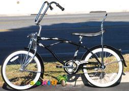 """Micargi Hero 20"""" Boys Kids Low Rider Beach Cruiser Bicycle B"""