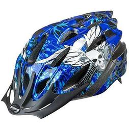 Mongoose Youth Thrasher Helmet, Blue Skulls