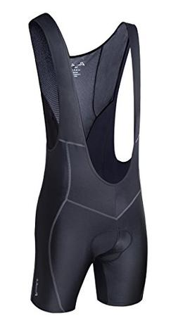 Przewalski Men's 3D Padded Cycling Bike Bib Shorts, Excell