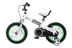 """RoyalBaby CubeTube Buttons 12""""  Bicycle for Kids, Green"""