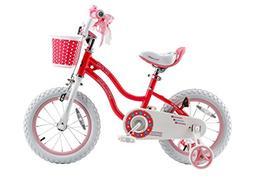 Royalbaby RB12G-1P Stargirl Girl's Bike with Training Wheels