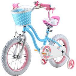 Royalbaby Stargirl Girls Bike with Training Wheels and Baske